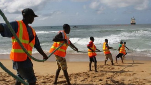 Net access in Liberia comes via a single cable that is shared with 20 other nations