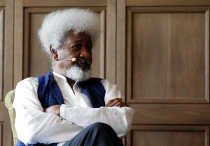 Nigerian Nobel laureate Wole Soyinka takes part in a debate in Berlin, Germany, July 3, 2012. Soyinka pledged to cut up his green card if Donald Trump was elected U.S. president. ANDREAS RENTZ/GETTY IMAGES FOR GREY GOOSE