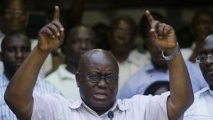 Nana Akufo-Addo also ran for president in 2008 and 2012