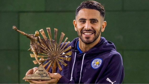 Mahrez has added another award to his 2016 collection