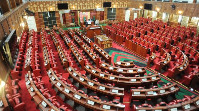 Fistfight breaks out in Kenya parliament