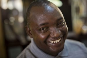 Gambian President elect Adama Barrow sits for an interview with the Associated Press at his residence in Yundum, Gambia, Saturday Dec. 3, 2016. Gambia's newly elected president Barrow says he will free the country's political prisoners, reverse the former administration's decision to leave the International Criminal court and lead a transition government for only three years. (Jerome Delay/Associated Press)