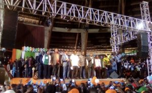 Photo: Jeremiah Wakay/Capital FM The leaders committed to work together in the run up to the General Election.