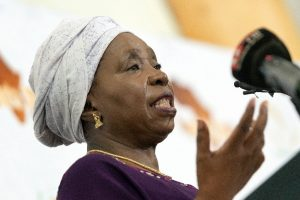 Nkosazana Dlamini-Zuma would become the first female leader of South Africa's African National Congress if the wider party endorses her (AFP Photo/RAJESH JANTILAL)