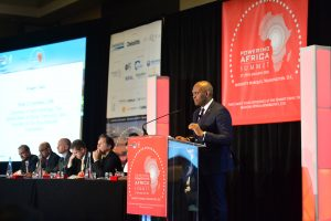 Senior decision-makers take part in a panel discussion at the Powering Africa: Summit in 2016