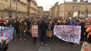 Some Oxford students joined marches calling for the Oriel College statue's removal