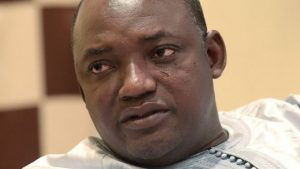 Adama Barrow (pictured) beat Yahya Jammeh in last month's election