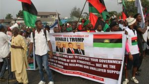 Pro-Biafra activists say they back Donald Trump as he supports self-determination