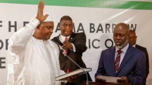 The new president, Adama Barrow, was sworn-in in Senegal on Thursday