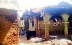 Simon Magaji's residence burnt down