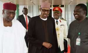 Abba Kyari, President Buhari and Adesina