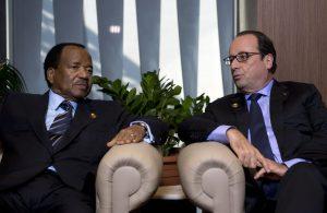Cameroon's Paul Biya and Francois Hollande of France