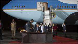 Former U.S. President Obama visited Kenya in mid-2015 on Air Force One.