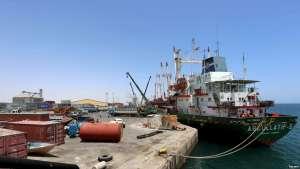 FILE - A ship docks at the port in Berbera, Somaliland, May 17, 2015.