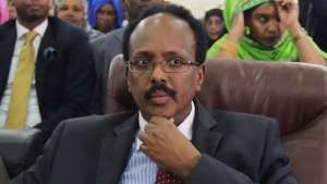 Farmajo quickly took the oath of office on Wednesday [Feisal Omar/Reuters]