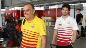 Ghana coach Avram Grant (left) has been paid while Gerard Nus (right) is still awaiting his salary.