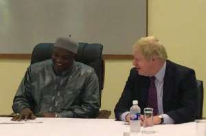 Adama Barrow and Boris Johnson