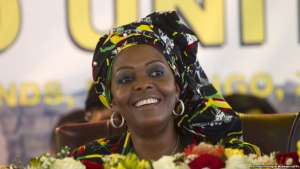 Zimbabwean  First Lady Grace Mugabe attends  the opening session of the  Zanu pf 16th Annual Peoples Conference in Masvingo about 300 kilometres south of the capital  Harare, Friday, December, 16, 2016.  Zimbabwean President Robert Mugabe officially opened the conference where he is set to be endorsed as the ruling party candidate for Presidential elections set for 2018.(AP Photo/Tsvangirayi Mukwazhi)