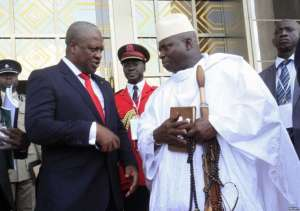 John Mahama or Ghana (in suit) and Yahya Jammeh of Gambia both lost elections in 2016
