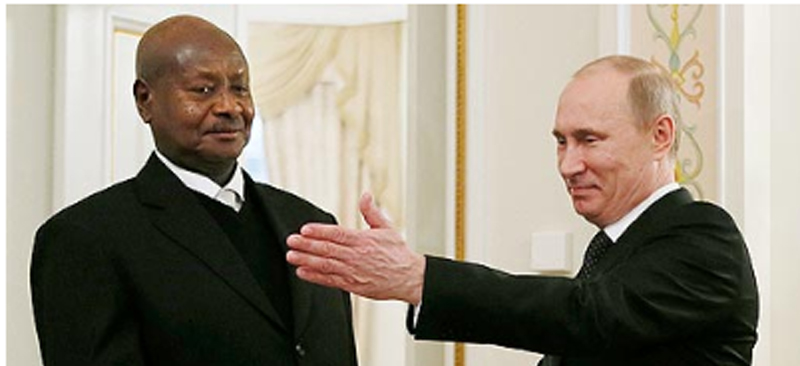 Museveni meeting Russia President Putin in Moscow
