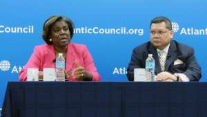 Atlantic Council, Africa Center Director J. Peter Pham with Assistant Secretary Thomas-Greenfield