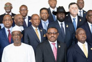 African Heads of State pose for a group photo ahead of the start of the 28th African Union summit in Addis Ababa on January 30, 2017 (AFP Photo/ZACHARIAS ABUBEKER)