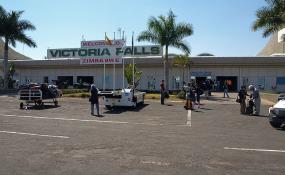 Photo: Kounosu/Wikipedia Arrivals of Victoria Falls Airport (file photo).
