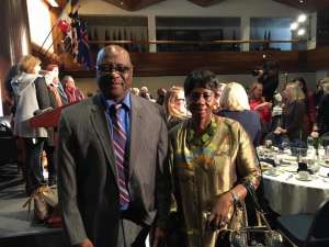 Dr. Isatou Touray with Ambassador Omar Faye at the Luncheon