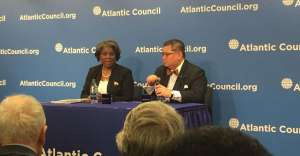 The Trump Administration needs time to build its team says Former Assistant Secretary of State for African Affairs Linda Greenfield in a file picture with J.Peter Pham of the Atlantic Council who is said to be consideration for the top US-Africa Envoy job.