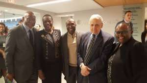 Ambassador Greenfield's predecessors Johnne Carson,Herman Cohen, and Jendayi Frazer are joined by Angelle Kwemo of Believe in Africa Foundation and former Ambassador Omar Arouna former Ambassor of Benin