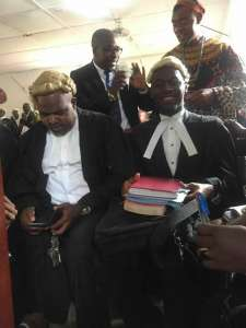 Two of the detained leaders Agbor Balla, and Mancho with Lawyers