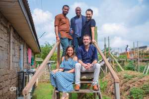 Chris Cox, Chief Product Officer Facebook; Ime Archibong, Director Strategic Partnerships Facebook; Emeka Afigbo; Jorn Lyseggen, CEO of Meltwater and Founder of MEST and Kate Sarro, Managing Director of Meltwater