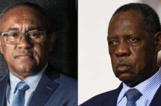 Ahmad (left) and Hayatou go head-to-head this week for the Caf presidency