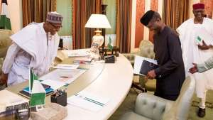 Vice-President Yemi Osinbajo on Monday briefed President Muhammadu Buhari on some of his activities as acting president while the president was away in London