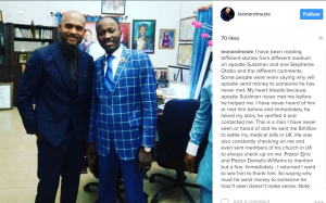 Not one Million Stephanie Otobos will Stop Apostle Suleman – Actor Leo Mezie