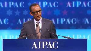 President Paul Kagame delivering his maiden speech at AIPAC policy conference