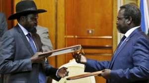 President Salva Kiir and his former Deputy Dr Rick Machar, the euphoria of independence for South Sudan has turned to a nightmare