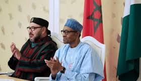 Nigeria's Buhari with King of Morocco