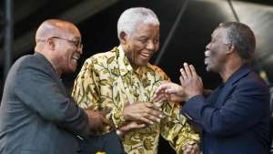 Current President Zuma,with former Presidents Mandela and Mbeki, to many South Africans the ANC has been a disappointment