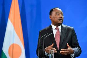 Niger's President Mahamadou Issoufou says he will not amend the constitution to allow him to seek a third term after his second and final mandate ends in 2021 (AFP Photo/John MACDOUGALL)