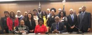 Permanent AU Representative to the United States, Dr. Arikana Chihombori Quao with stakeholders from the Diaspora in Washington