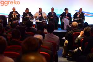 A busy panel discussion at the Africa Energy Forum in London, June 2016