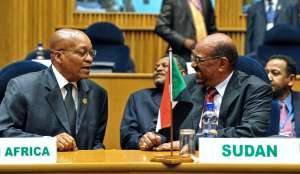 President Jacob Zuma and the man wanted by the ICC Sudanese President Omar Al-Bashir