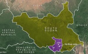 Photo: VOA South Sudan map