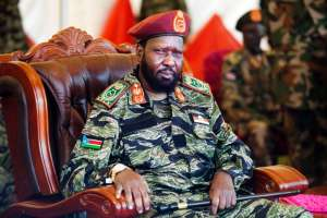 South Sudan President Salva Kiir, pictured on May 18, 2107, has vowed the army will lay down arms, but warned that his troops would defend themselves if attacked (AFP Photo/ALBERT GONZALEZ FARRAN)