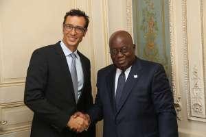 AIF Founder, Mr Jean-Claude Bastos de Morais meeting with H.E. President Nana Addo Dankwa Akuffo-Addo, the President of Ghana