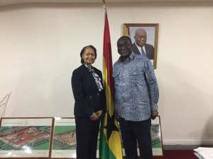 Florizelle Liser and Honorable Alan Kyerematen, Minister of Trade and Industry, Republic of Ghana