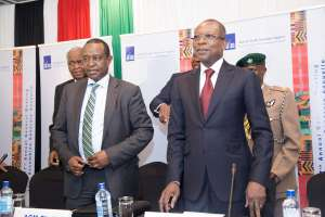 (L-R) Honourable Henry Rotich, Cabinet Secretary of the National Treasury of Kenya and H.E. Patrice Talon, President of the Republic of Benin