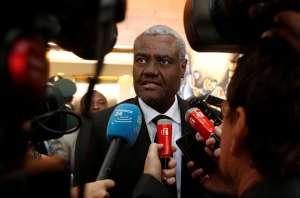 AU Chair Moussa Faki in Ethiopia's capital Addis Ababa. Tiksa Negeri/Reuters