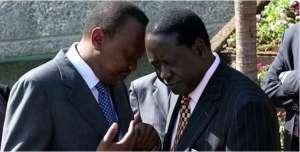 President Uhuru Kenyatta and  opposition Challenger Raila Odinga